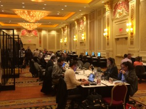 The fast-paced press room of today at SHOT Show is all about technology and the people who know how to use it.
