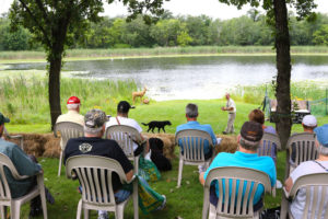 Then again, some folks come just for the FREE dog training lessons taught by world renowned experts like Tom Dokken.